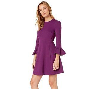 NWT - Kate Spade Ruffle Sleeve Ponte Dress